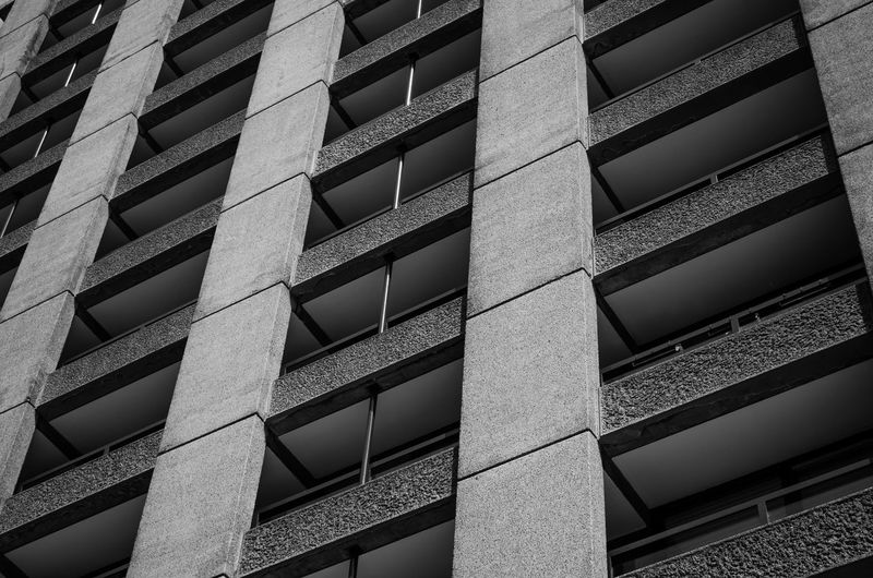 brutal beauty nr2 Apartments Architecture Backgrounds Barbican Black And White Blackandwhite Brutalism Brutalist Architecture Building Exterior Built Structure City Day Full Frame Low Angle View No People Outdoors Pattern Window