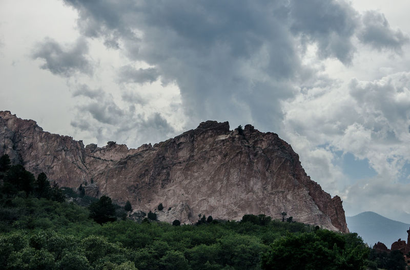 Garden of the Gods Colorado Springs Cloud - Sky Mountain Sky Rock Rock - Object Solid Nature Beauty In Nature Scenics - Nature Rock Formation Low Angle View Cliff Mountain Range No People Tranquil Scene Environment Geology Tranquility Day Formation Outdoors Mountain Peak Eroded