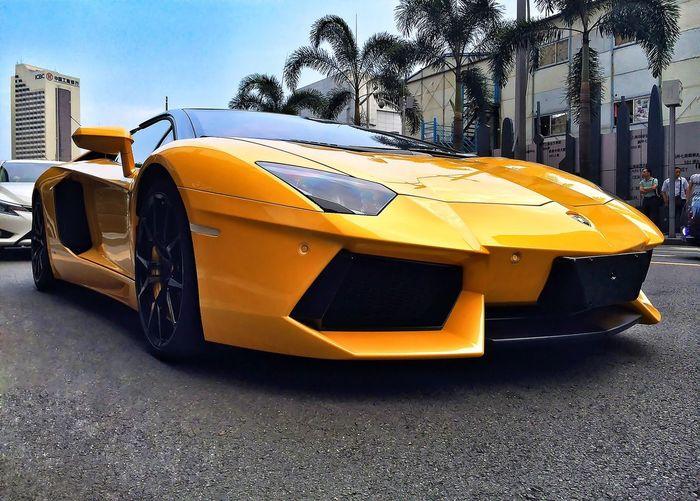 Fast & Furious. Captured Moment On The Road Lamborghini Taking Photos