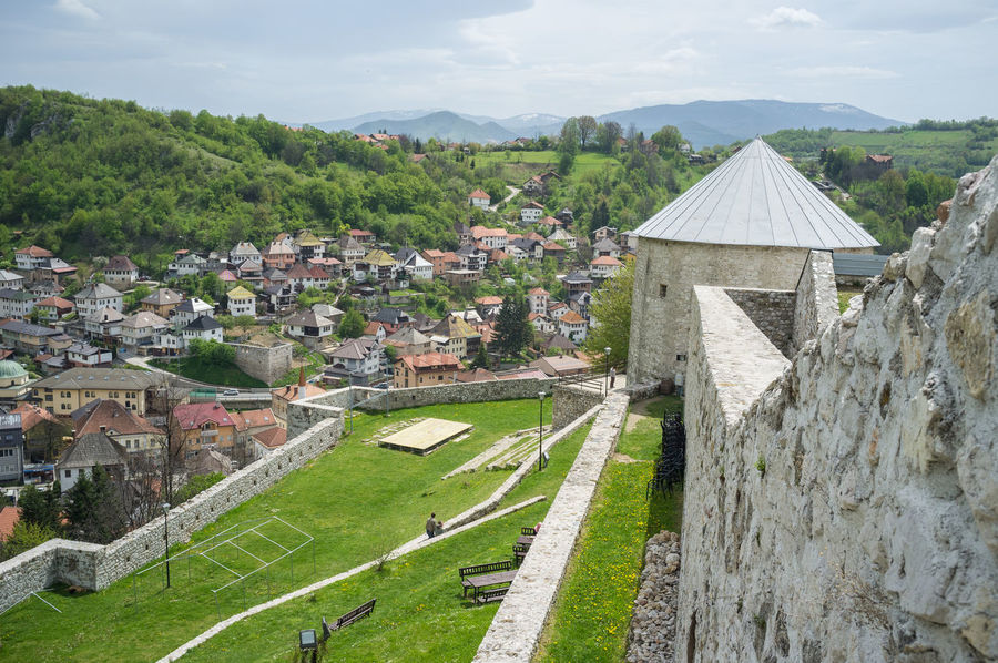 Bosnia And Herzegovina Castle Architecture Building Exterior Built Structure Day House Of Worship Islam Mosque Muslim No People Outdoors Sky Travnik
