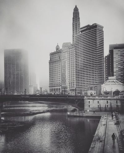 Blackandwhite Blackandwhite Photography Fog Foggy Day ☁️☁️☁️ Architecture Chicago Architecture Chicago Chicago Skyline River Riverwalk Bridge Waterfront Urban Skyline EyeEm EyeEm Best Shots Chicagoloop Windycity Quiet Moments Walking IPhone Iphonephotography Chicago Photographer Outdoors Long Goodbye The Architect - 2017 EyeEm Awards The Graphic City