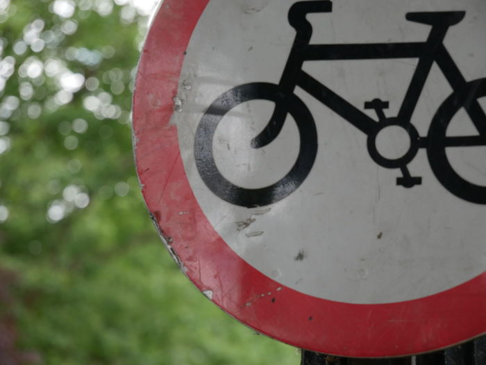 Bike Bike Sign Bikes Close-up Cyclist Day Hyde Park No People Outdoors Royal Parks Sign