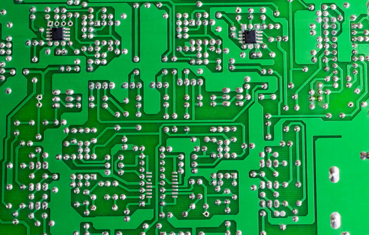 The green circuit board Circuit Hardware Businees Circuit Board Communication Computer Computer Chip Device Electronics Industry Futuristic Innovation Intergrated IT Mainboard Technology