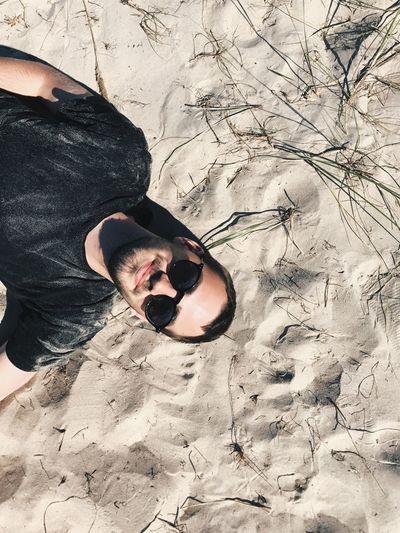 Love Beach Sand Man Vacation Chill Romance Boyfriend Cool Cool Attitude Cute Getaway  Silence Calmness Sunglasses Smile Chilling My Man Beachphotography Besttime Bestfriend Sunglasses👓 Nature Nature_collection Adult
