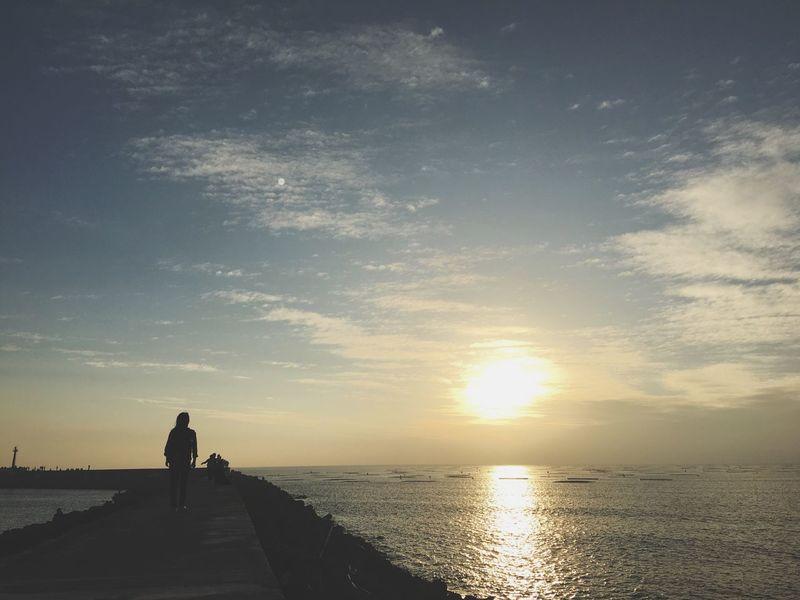Sunset Sky Sea Sun Vlada Tainan Taiwan