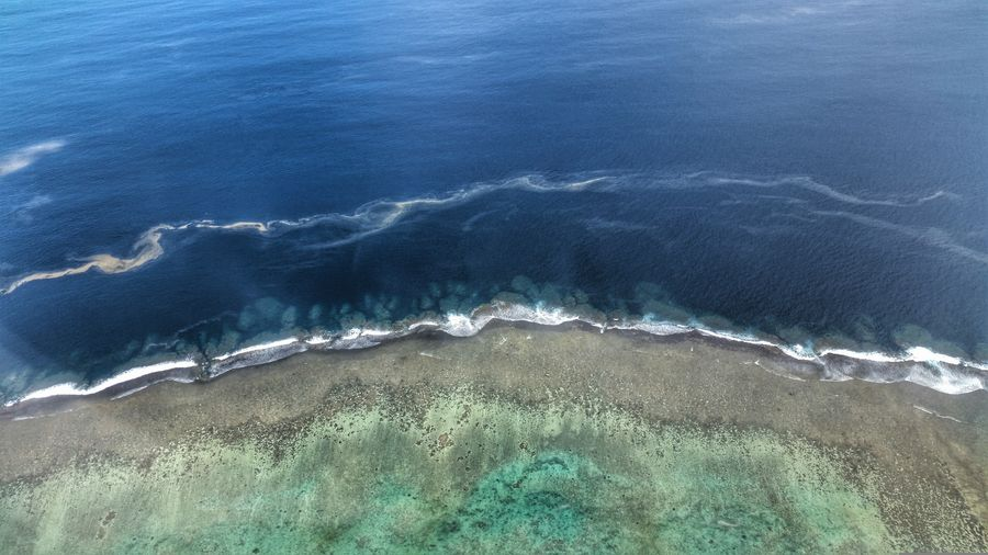 Fiji coral reef Coral Coral Reef Fiji Sea Water Beach Aerial View High Angle View Agriculture Mountain Cold Temperature Backgrounds Sky
