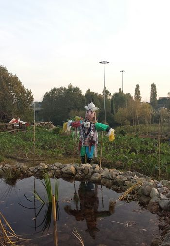 the scarecrow. Water Reflections Eyeem Porto Meetup 7 Curiosities