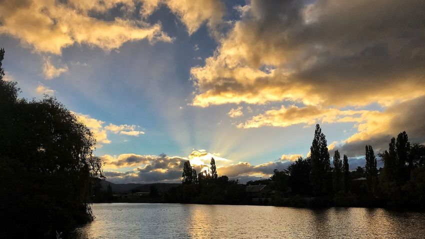 Tasmania Cloud - Sky Sky Water No People Sunset Tranquility Tree Tranquil Scene Outdoors Scenics Beauty In Nature