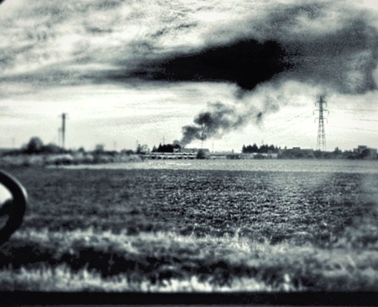sky, cloud - sky, no people, outdoors, day, electricity pylon, city