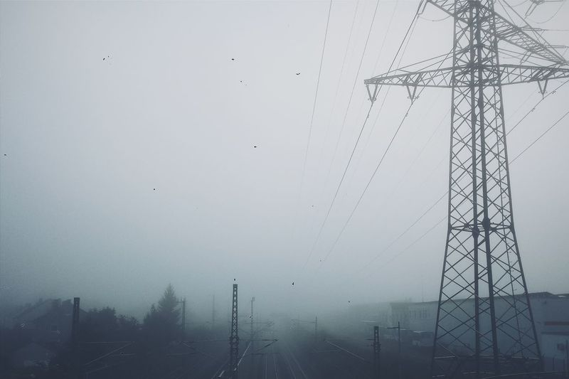 What a foggy morning. Mobilefotografie Fog Photography Ulm