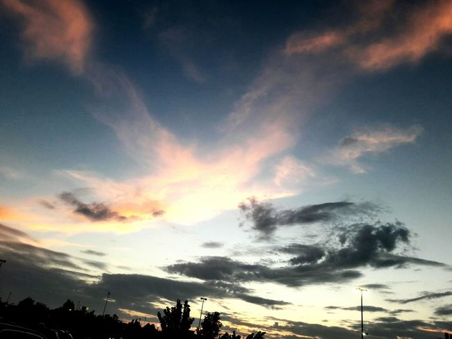 Cloud - Sky No People Sky Tree Sunset Silhouette Tranquility Outdoors Nature Scenics Landscape Beauty In Nature Day