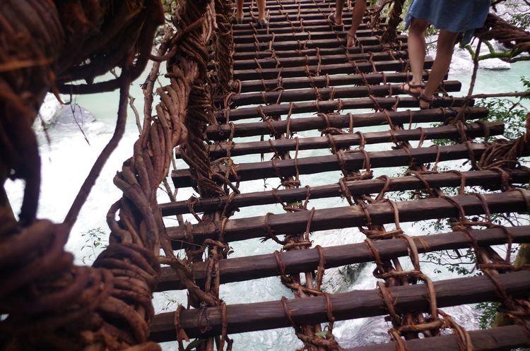 怖い~( ;∀;) 一眼レフカメラ Camera カメラ女子 Pentax K50 祖谷 祖谷かずら橋 かずら橋 川遊び 川