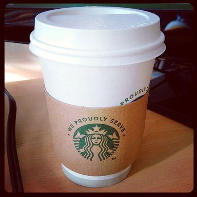 Inst10 Pour bien commencer la matinée de reprise ! Cafe Coffee Starbucks ☕