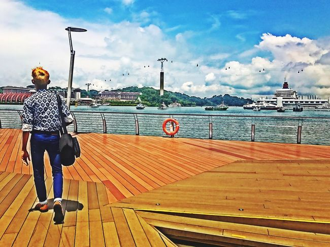 Travel Destinations Tourism Leisure Activity Cloud - Sky Water Sea Scenics Boat Deck Real People Vacations Blond Hair