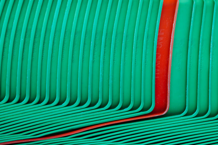 Backgrounds Choice Close-up Curve Day Full Frame Green Color In A Row Indoors  Love Is Love Metal Multi Colored No People Pattern Pipe - Tube Plastic Red Still Life Striped Textured  Turquoise Colored Variation