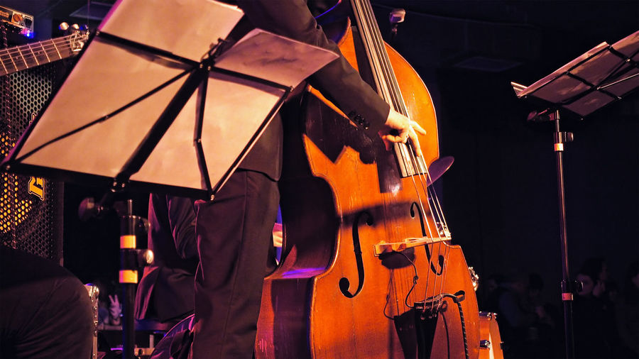 Arts Culture And Entertainment Cello Classical Music Music Musical Instrument Musical Instrument String Musician Night Outdoors People Performance Playing Real People Business Stories