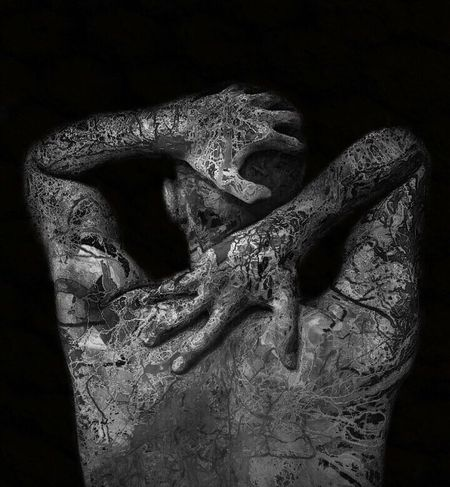 """"""" Emotions are invisible but their power is extraordinary. """" Photo Young Adult One Person Shades Black Background Fingers EyeEm Team Eye4photography  EyeEm Gallery Limassol Cyprus EyeEm Black And White Photography Body Part Veinsisshowingthroughmyskin Arms Lines"""