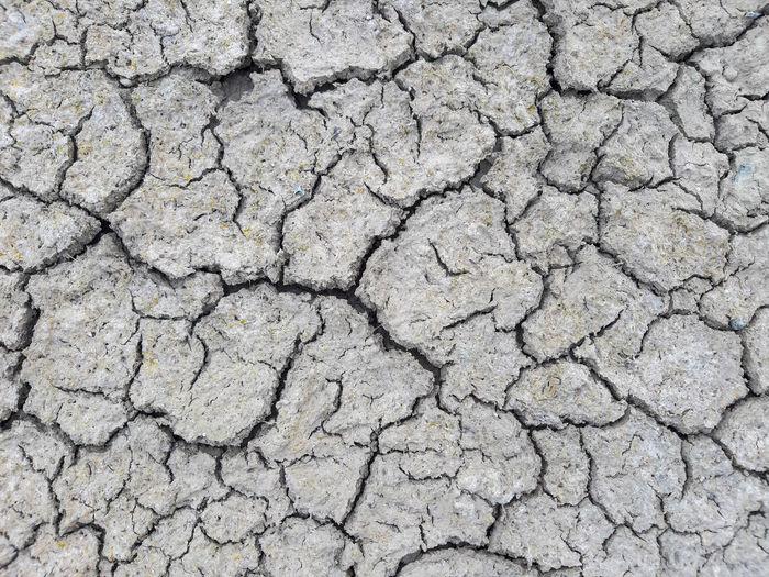 Full frame shot of cracked land