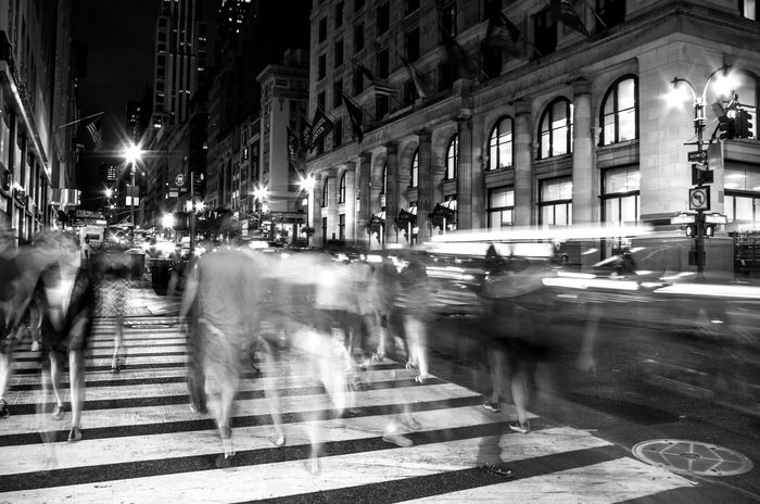 5th Ave 5th Avenue Black And White Black And White Collection  Bnw Crossing Manhattan New York New York City New York City Photos New Yorker Night Nightlife Nightshot NYC NYC Photography Streetphotography USA Showcase: February Photography In Motion Welcome To Black The Street Photographer - 2017 EyeEm Awards Black And White Friday