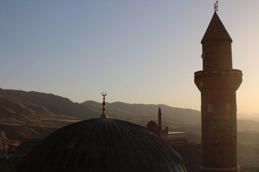 Ishak Pasha Palace Turkey Dogubayazit Architecture Built Structure History Mountain Outdoors Place Of Worship Religion Sunset Travel Destinations
