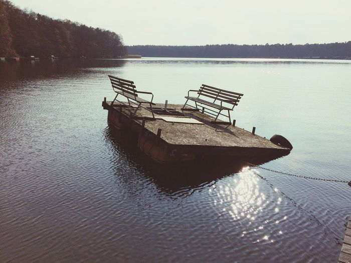 Declining pontoon Lake Lake View Bathing Spot Pontoon Swimming Outdoors Telling Stories Differently The Essence Of Summer- 2016 EyeEm Awards The Essence Of Summer