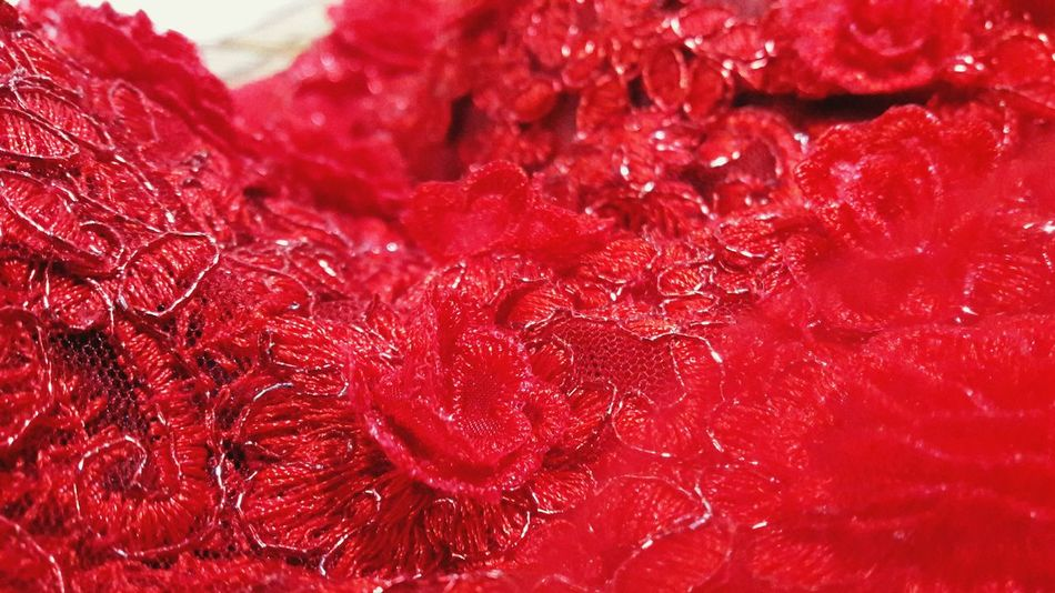 Red Wedding Dress Couture, Fashionable, Lace Dress