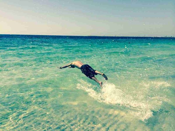 Today In The Sea Beach Swimming