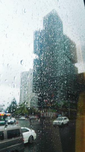 窗外雨景 Water City RainDrop Motion Drop Wet Car Window Weather Looking Through Window