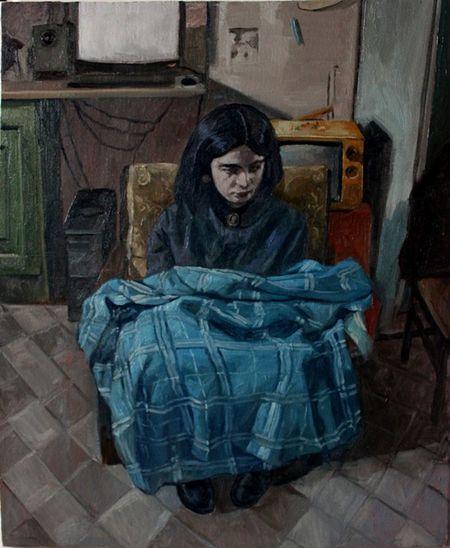 Farsam Sangini Art, Drawing, Creativity Painter Art Gallery Paint Art Exhibition Day Dreaming Portraiture Oil On Canvas Portrait