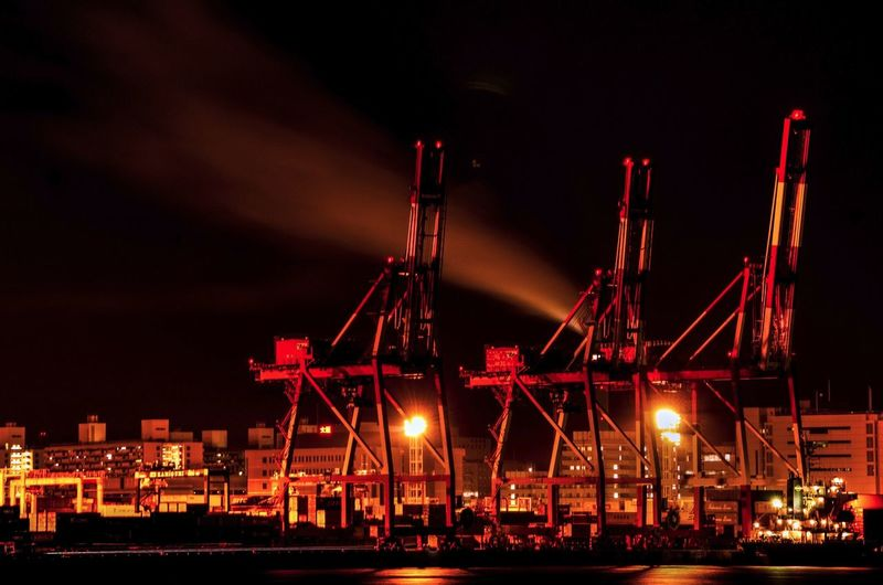 Commercial Dock At Night