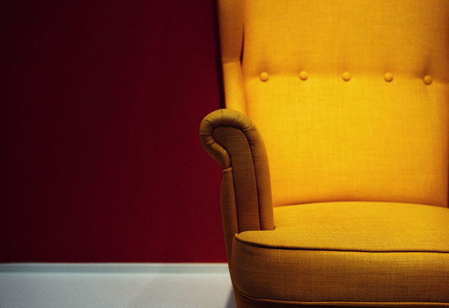 Chair Chair Design Minimalism Minimal Yellow Textured  Home Interior Close-up Decorative Art Fabric Textile Seat