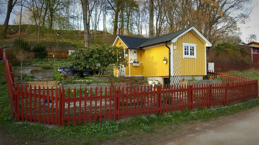 Södermalm Stockholm Cottage Paint The Town Yellow