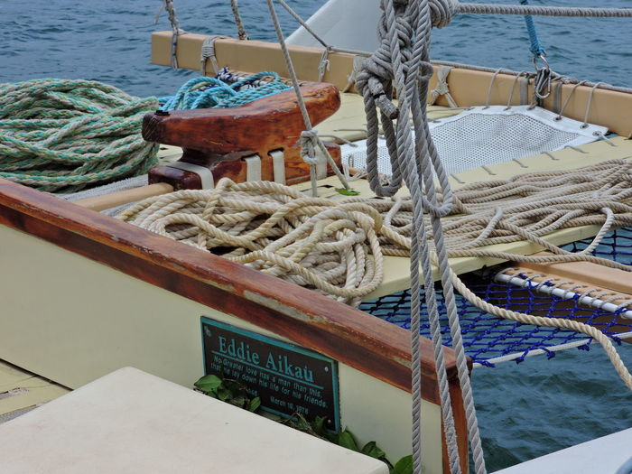 EddieWouldGo! Boat Deck Connection Day Deck Fishing Boat Fishing Industry Fishing Net Harbor Mode Of Transportation Moored Nature Nautical Vessel No People Outdoors Post Rigging Rope Sailboat Sailing Sea Strength Tied Up Transportation Water