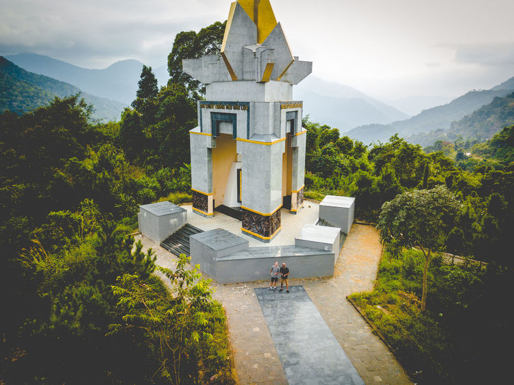 DJI X Eyeem Drone  Architecture Beauty In Nature Building Exterior Built Structure Day Dronephotography Growth Mountain Nature Outdoors Place Of Worship Plant Religion Sky Skypixel Spirituality Tree An Eye For Travel