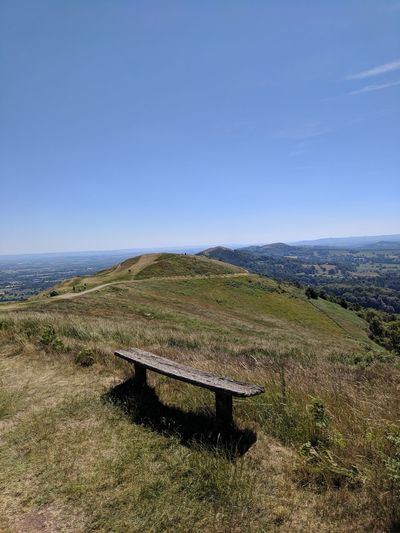 Charging without my USB cable Bench Horizon Hills Hothothot Scorching Beautiful Nationaltrust Malvernhills Agriculture Sky Landscape Calm