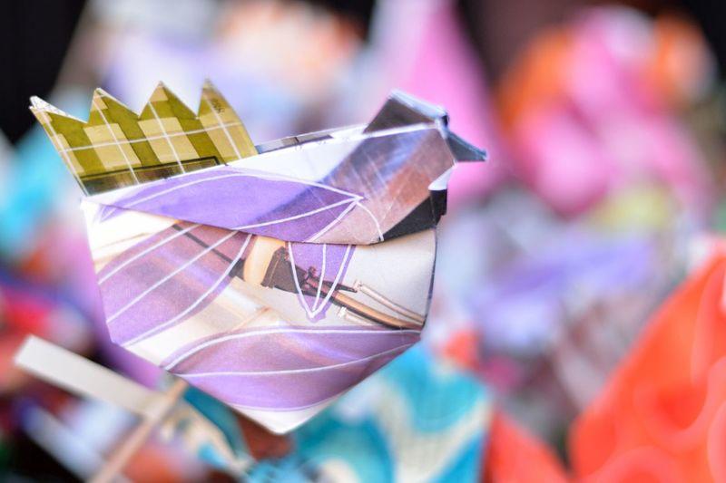 Close-up of multi colored paper