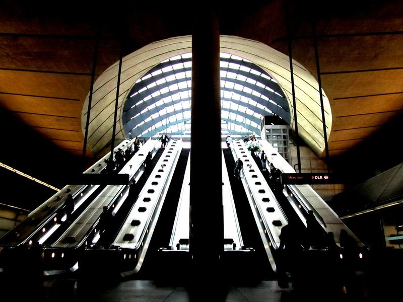 Architectural Feature Architecture Built Structure City Escalator London Architecture Modern The Architect - 2016 EyeEm Awards Waterloo Station