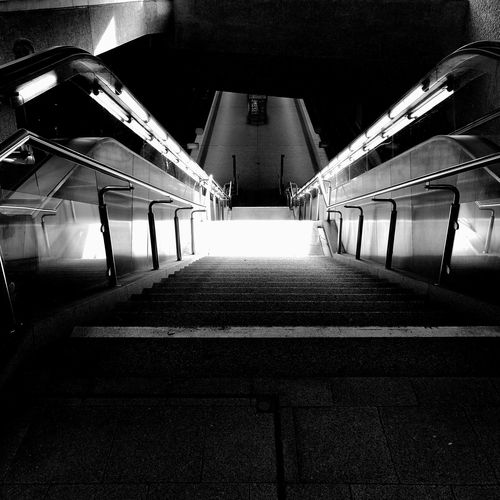 Schwarz & Weiß Blacknwhite Street Life Nürnberg City Outdoors The Way Forward Metro Station Light And Shadow Lights