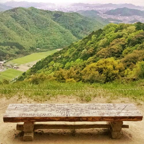 this bench and the foggy Himeji City yonder || Mount Shosha Hyogo Travel Travels Traveling Travelling Explore Outdoors Nippon