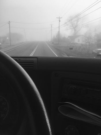 From the drivers seat. Foggy day. Transportation Land Vehicle Mode Of Transport Vehicle Interior Travel Dashboard Day Journey Foggy Foggy Morning Foggy Day Road Outdoors Close-up Bigtrucks 18wheeler Trucking Truckerslife Truckinglife At Work
