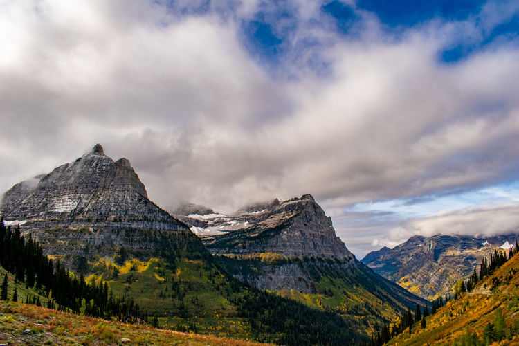 Glacier National Park Glacier National Park Mountains Nature Landscape Autumn Clouds Vistas Scenics