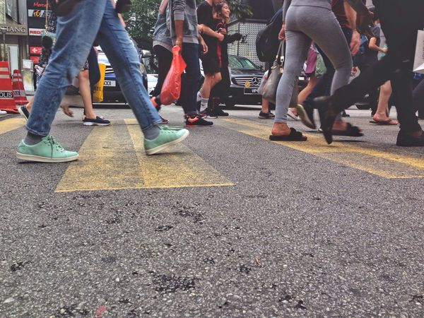 Human Leg Low Section Real People Men Women Large Group Of People Outdoors Day People Crossing Crowd Crossing The Street EyeEmNewHere