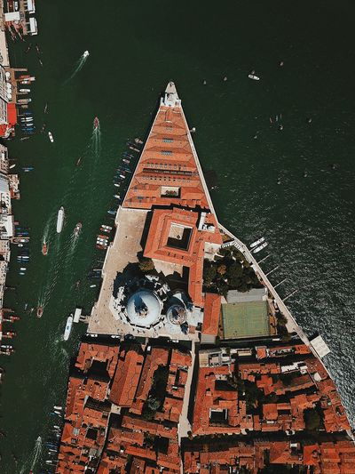 Aerial View Of Church At Grand Canal