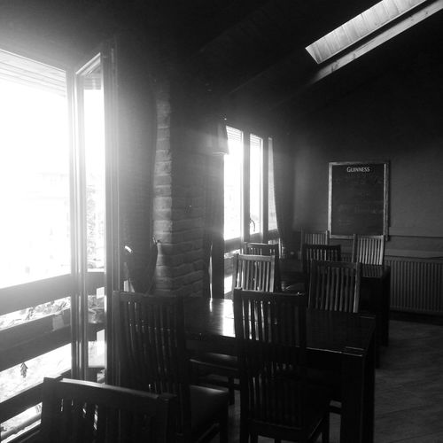 Indoors  Window Chair No People Architecture Day Pub Drink And Drunk Sunshine Collection Cozy Place