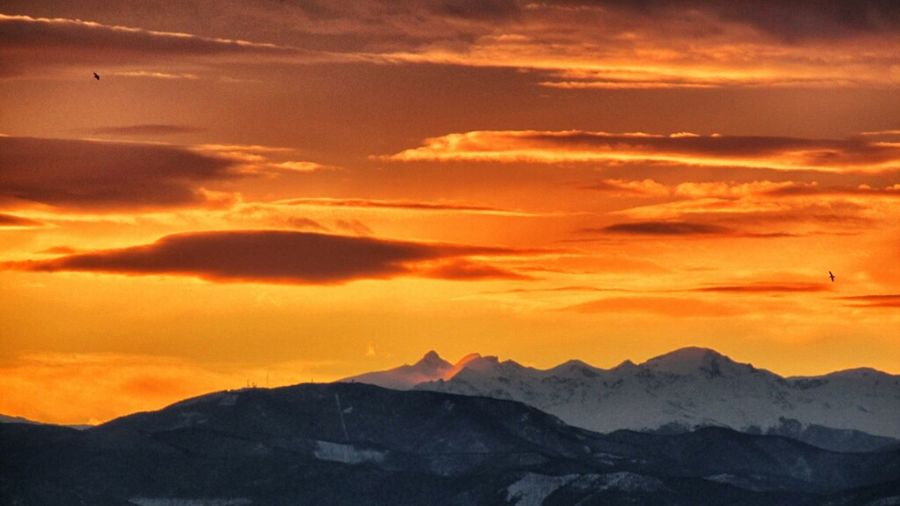 Sunset Mountains Landscape Italy Enjoying The Sunset Sky_collection Cloudsporn Eye4photography