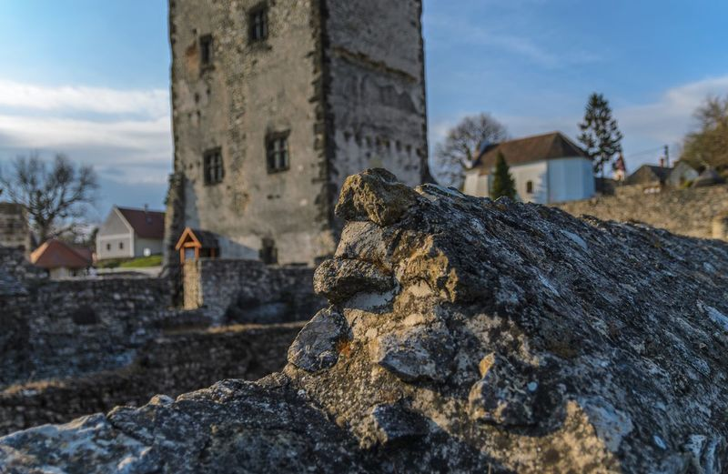 Ruins Medieval Castle Hungary