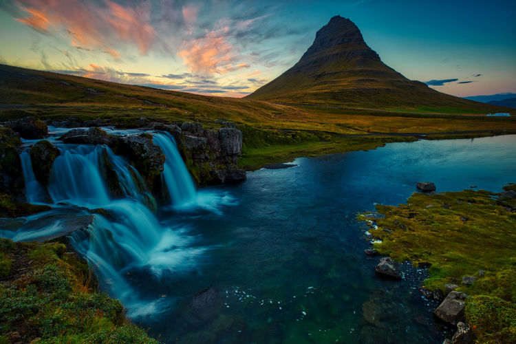 Mt. Kirkjufell, Iceland Iceland Kirkjufell Kirkjufell Mountain Kirkjufellsfoss Beauty In Nature Cloud - Sky Environment Flowing Flowing Water Idyllic Land Landscape Long Exposure Motion Mountain Nature No People Outdoors Rock Scenics - Nature Sky Tranquil Scene Tranquility Water Waterfall