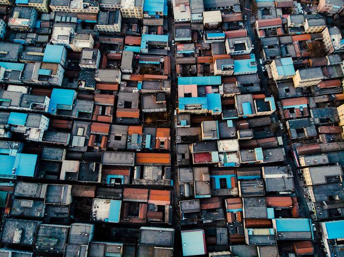 Full frame shot of houses in residential district
