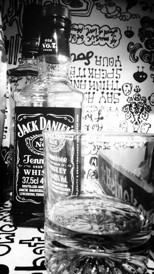 Jackdaniels Whiskey Dirnk Blackandwhite