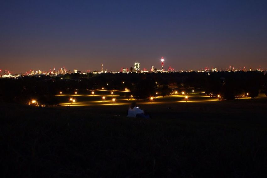 Battle Of The Cities Illuminated Night Architecture Building Exterior Cityscape Urban Skyline Tranquility Distant City Outdoors Sky Scenics London Primrose Hill From My Point Of View Urban Exploration Eyeem Photo Canon750D Cloud - Sky Magic Nights Magic Moments Long Exposure No Filter People And Places The Week On EyeEm Your Ticket To Europe Lost In The Landscape EyeEm Ready   Stories From The City